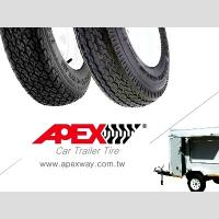 APEX Special Trailer Tire, Car Trailer Tyre for 13, 14, 15 inch