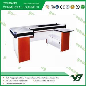 Best Durable Electric Supermarket Checkout Counter Cashier Desk 2000 * 1200 * 850mm wholesale