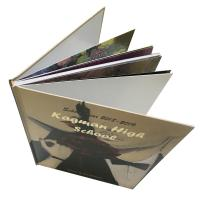 Best School Yearbook Printing Services Gold Foil Stamp Logo Hard Cover Sewing Binding wholesale