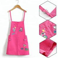 Best Stretchable Waist Summer Peach Overalls Skirts Sleeveless For 8-16 Years Girls wholesale
