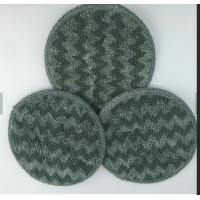 Best Gray Twisted Round Microfiber Wet Mop Pads 10mm Sponge 260gsm Self - Adhensive Wet Mop Pads wholesale