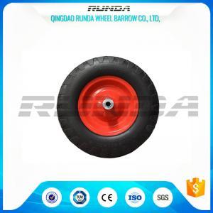 China Steel Rim Heavy Duty Swivel Caster Wheels Blocky Pattern 30 PSI 400mm Size on sale