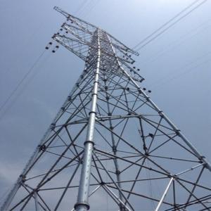 China Triangular Telecommunication Mast Galvanized Steel Lattice Tubular Guy Wire Guyed Tower on sale