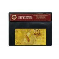 China Engraved Gold 20 Euro 24k Gold Banknote , EURO Gold Foil Money Collector With COA wholesale