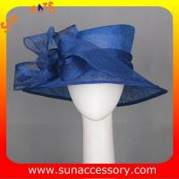 Best Elegant design sinamay Church hats for lady with assorted colors ,trendy Sinamay wide brim church hat from Sun Accessory wholesale