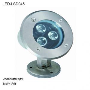 Best Stainless steel 3W IP68 waterproof LED Underwater light in pool used wholesale