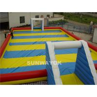 China Inflatable Outdoor Water park Huge Soap Football Field / Cour t / Pitch wholesale