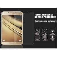 Buy cheap Toughened Glass Golden Samsung C5 Screen Protector Film 2.5 D Impact Resistant product