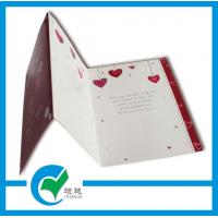 Cheap C2S Art Paper Musical Recording Greeting Card Stock Paper With Lighting Printing Services for sale