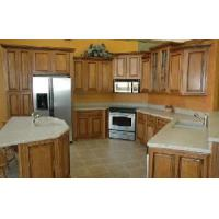 Cheap Solid Wood Kitchen Cabinets in European Style for sale