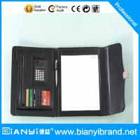 Best A4 PU leather portfolio with calculate and memo pad from factory wholesale