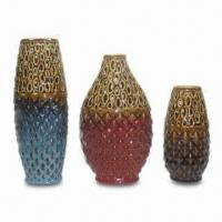 Best Ceramic Vases, Made of MDF/Acrylic Material, Available in Blue, Red, Green and Coffee Colors wholesale