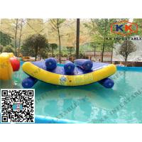 Best Float Jumping Pool Inflatable Toys Triple Lines Water Seesaw Equipment wholesale