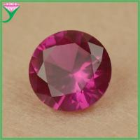 Buy cheap factory wholesale loose 5# round red ruby corundum stone price from wholesalers