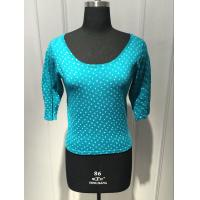 China Round Spot Short Sleeve Pullover Sweater , Floral Pullover Sweater BGAX16096 on sale
