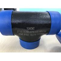 Best ASTM A860 WPHY60 WPHY42 WPHY52 WPHY65 WPHY70 WPHY80 EQUAL TEE 2 SCH80 BW ASME B16.9 Black Surface OR Color Coating wholesale