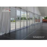 China Clear Span Outdoor Exhibition Tents Wedding Reception Glass Windows on sale