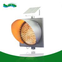Best Yellow 400mm solar amber lights equipments led safety beacon warming lights wholesale