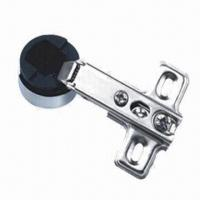 China Glass Hinge/Slide-on Door Hinge, 1-way Function, with Nickel Plating and Cap in Gold/Chrome Color on sale