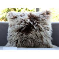 Best Mongolian lambskin pillow Curly fur throw Long hair tibetan lamb fur cushion cover wholesale