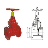 China Special fire signal resilient seated gate butterfly valve pressure 1.0 - 2.5MPa on sale