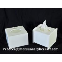 Best Cheap price wholesale cubic white acrylic tissue boxes in China wholesale