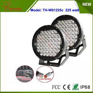 Best Black 10 inch 225W spotlights round LED spot driving lights upgraded 5w CREE XPG grade wholesale