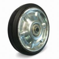 Best Heavy-duty Caster Wheel with Elastic Rubber and 75 to 80 Shore A Hardness wholesale