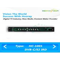 Buy cheap IRD Digital TV Satellite Receiver BNC Interface With WEB Management Mode product
