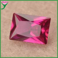 Buy cheap wholesale 5# loose baguette rectangle cut lab created red ruby from wholesalers