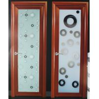 Best Wood grain 1.0mm-1.2mm profile thickness kitchen, bath room aluminum hinged doors wholesale