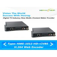 Buy cheap HDMI CVBS Input Digital TV Encoder Support HTTP , UTP , RTSP , RTMP Protocol product