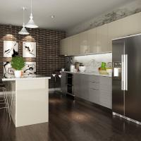 China Blum Hinges Laminate Kitchen Cabinets With Stove And Oven Interior Home Design on sale