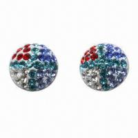 Best Stud Earring, Made of 925 Silver Post with Crystal Material wholesale
