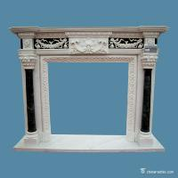China China marble Multicolor Marble Fireplace Surround , Decorative Stone Marble Around Fireplace on sale
