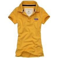China 100% Polyester Quick Dry POLO T Shirts With Plain Blank V - Neck Screen Printing Method on sale