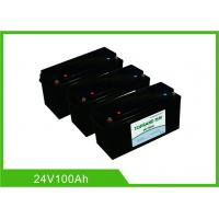 Best 100AH 24V Deep Cycle Lithium Battery , UPS Rechargeable Lifepo4 Battery Bluetooth Communication wholesale