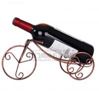 Best Hot sale Bronze Tricyle shape red win holder/Creative European style single bottle red wine rack wholesale