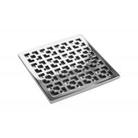 China High Ductility Low Profile Shower Drain , Square Floor Drain Grate Strength ≥530 N/Mm on sale