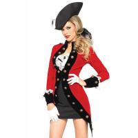 Best Military Red Coat Womens Sexy Costumes  Halloween Party Dress wholesale