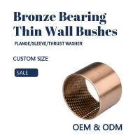 China CuSn8 Thin Wall TIn Bronze Sleeve Bushes For Agricultural Machinery on sale