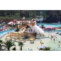 China Steel Structure Parks With Water Playgrounds Open And Close Spiral Water Slides on sale