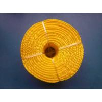 Best 3 Strand High Strength PP Monofilament Twisted Rope For Packing , Yellow Color wholesale
