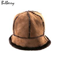 China New style double face shearling sheepskin hat winner women hats on sale