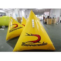 China Water Play Equipment 1.0m Yellow/Orange Silk Printing Inflatable Marker buoy on sale