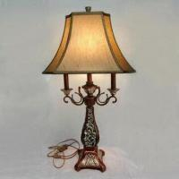 Best Table Lamp, Measures 31 x 44 x 83cm, with Resin Base and Fabric Shade wholesale