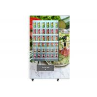 Cheap Smart Cake Yogurt Salad Vending Machine With Wooden Outlook / Elevator System for sale