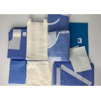 China Obstetrics Laparoscopy Disposable Surgical Packs Blue Green color SPP PE lamination on sale