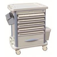 Best Movable Hospital ABS Medicine Trolley With Double Side Tray , 720*470*920mm wholesale