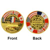 China Normandie War 70-year Anniversary Commemorative Coin Wholesale 24K Gold Plated Coin Gift For Promotion on sale
